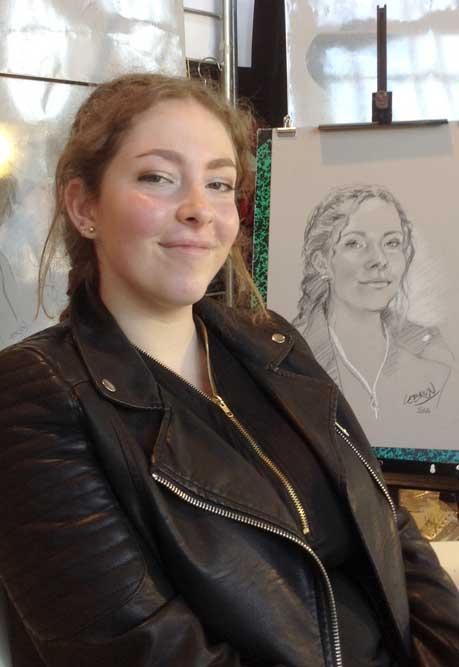 Portrait sur le vif au Salon Art et Artisanat de Pégomas(06)