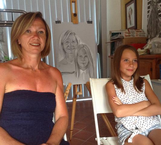 Portraits sur le vif en atelier