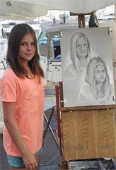 portraits sur le vif au fusain