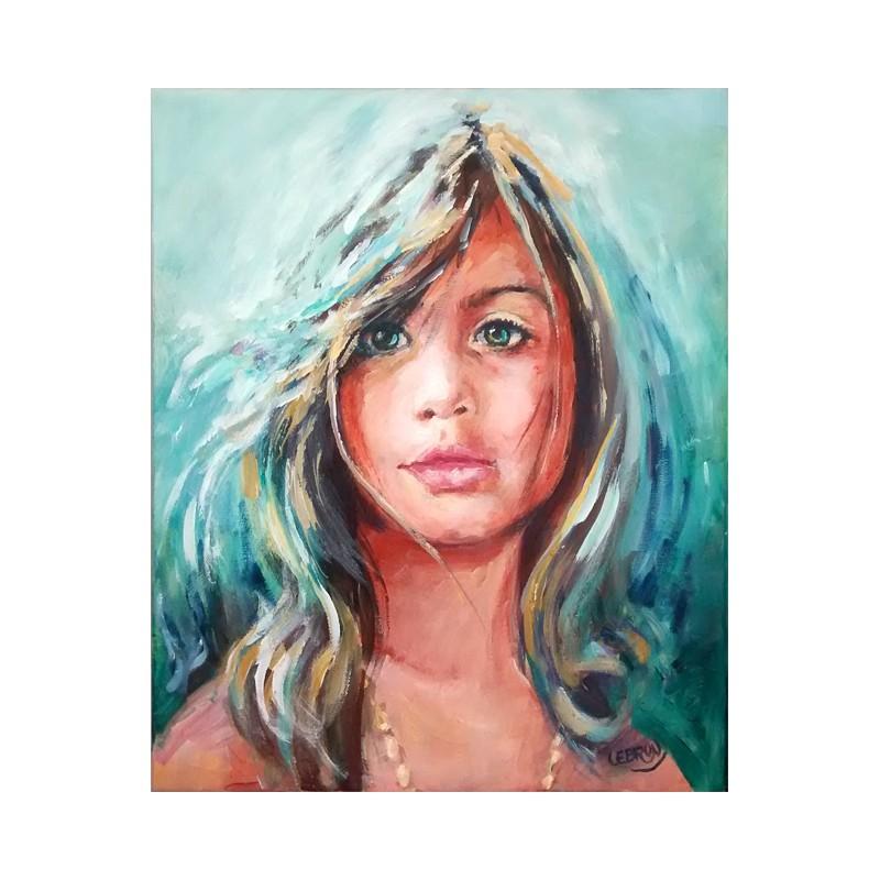 Portrait à l'acrylique