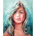 Portrait acrylique sur toile