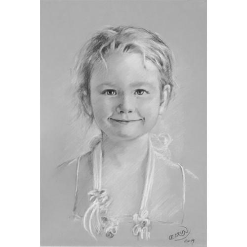 Portrait au fusain