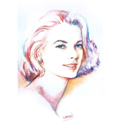 Portrait aux carrés pastels