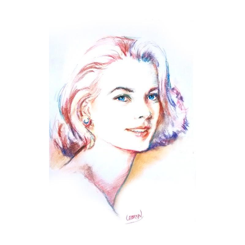 Portrait au pastel sur toile