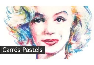 Portrait aux pastels sur toile